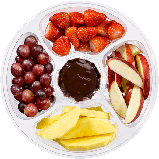 Snackfruit met dip