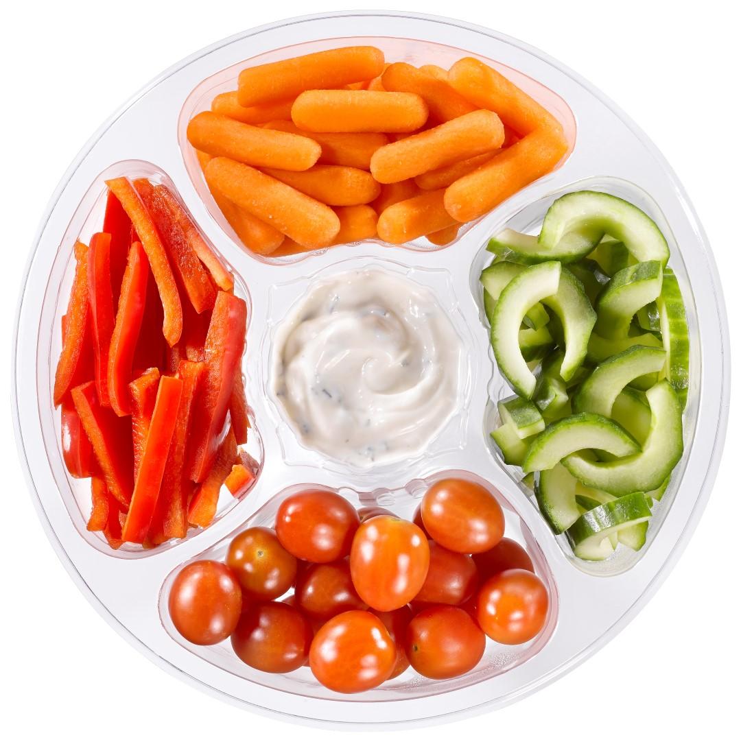 Snackgroenten met dip